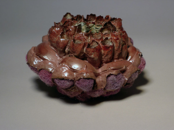 """Budding, Porcelain & Stains, 6"""" x 6"""" x 6"""", 2013"""