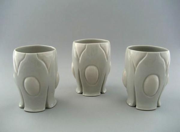 "Trio of Water Tumblers,  6 ½"" X 4"", 2009"