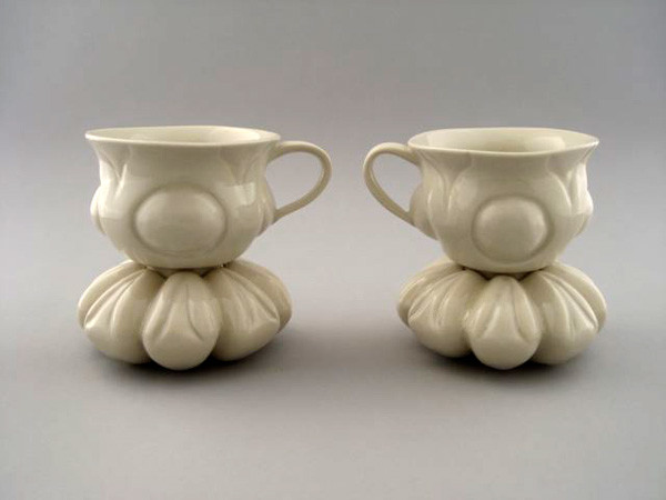 """Cup and Saucer Set, 5 ¾"""" X 10"""" X 5"""", 2009"""